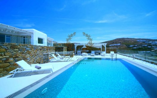 Mykonos - Greece | Elia – Private Villa with Pool & Sea view for rent | Sleeps 6+3 | 3+1 Bedrooms |3 Bathrooms| REF: 180412122 | CODE: ELO-1