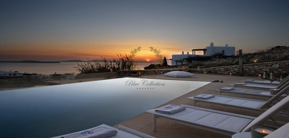 Mykonos   St. John – Executive Villa with Private Pool & Stunning views for rent   Sleeps 16+3   8+1 Bedrooms  9 Bathrooms  REF:  180412121   CODE: AGN-1