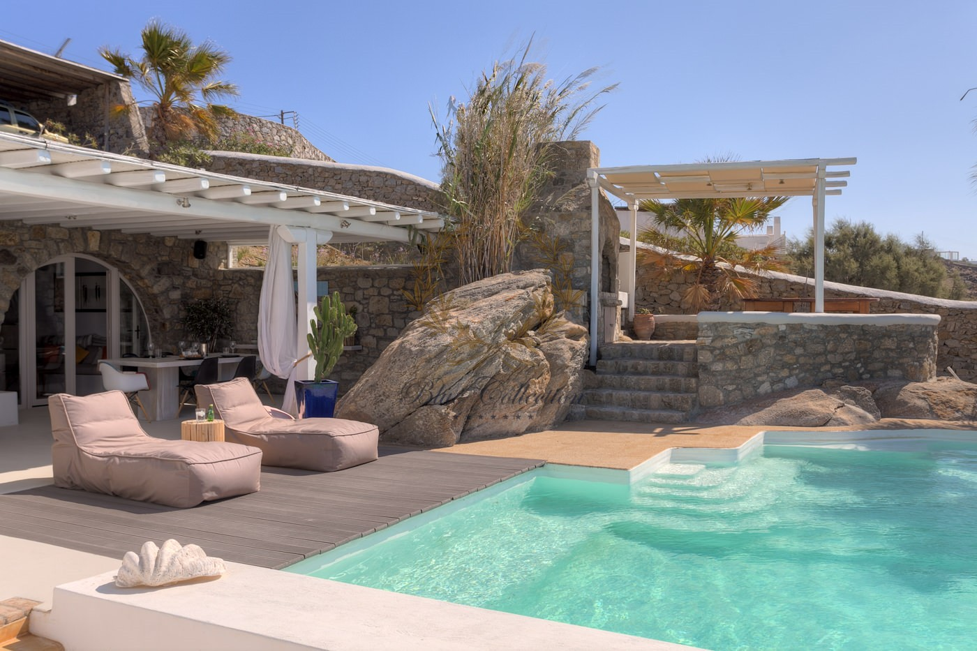 Best Island Beaches For Partying Mykonos St Barts: Greece , Private Villa With Pool For Rent