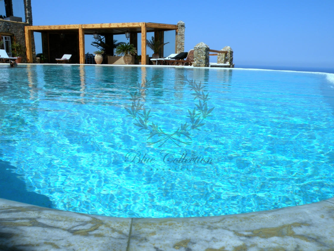 Mykonos greece private villa with private pool for rent for Villas with pools