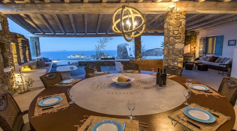 VIP Villa for Rent in Mykonos – Greece  Kalafatis  Private Pool  Sea view  CODE KFA-1 www.bluecollection.gr (9)