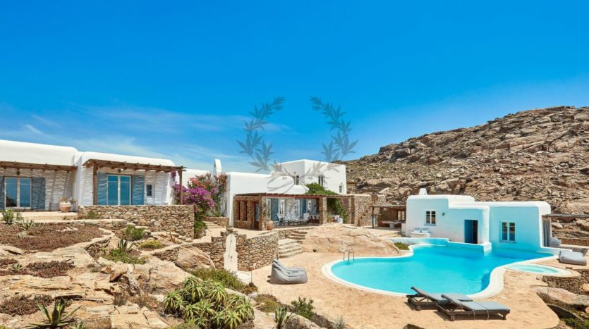 Mykonos, Agrari – Absolute Private Villa with Infinity Pool & Stunning view for rent 1 (2)