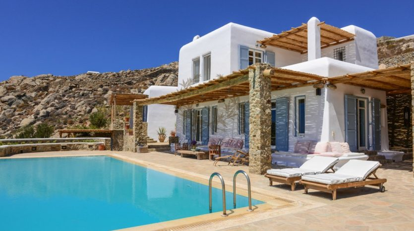 Mykonos Agrari – Private Villa with infinity Pool & Stunning views for rent P6