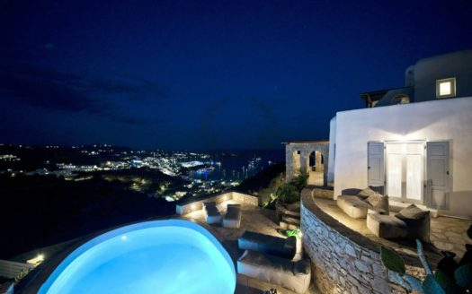 Private Villa for Rent in Mykonos – Greece | Ag. Lazaros – Psarou Beach | Private Pool | Sleeps 8 | 3+1 Bedrooms |4 Bathrooms| REF: 180412142 | CODE: AMG-3