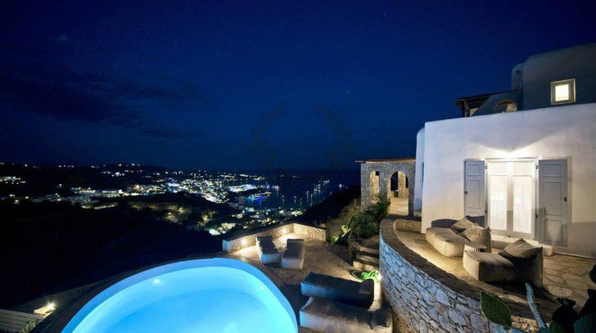 Private Villa for Rent in Mykonos – Greece | Ag. Lazaros – Psarou Beach | Private Pool | Sleeps 8 | 3+1 Bedrooms |4 Bathrooms| REF: 180412142 | CODE: AMG-3